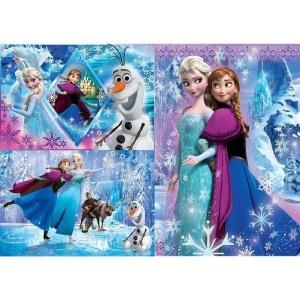 3x48 Parça Puzzle : Frozen