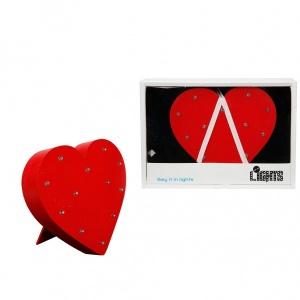 Dekoratif Ahşap Işıklı Kalp 16 cm.