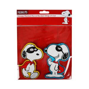 Snoopy Maskeli Marvel Bardak Altlığı 2'li Set