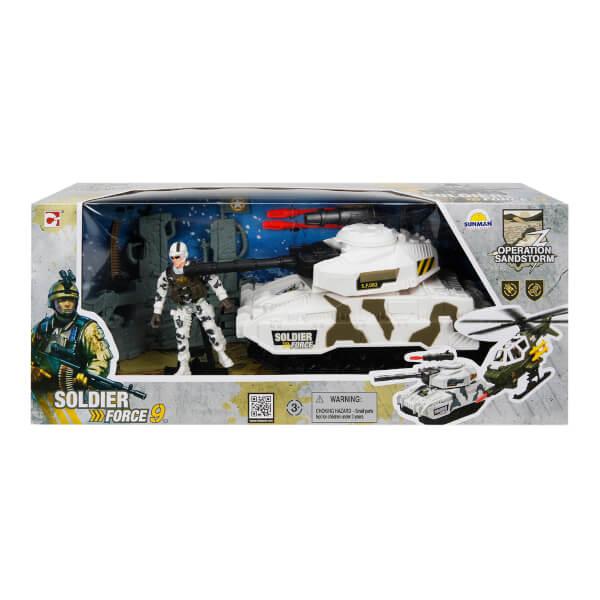 Soldier Force Rapidfire Askeri Araçlı Oyun Seti