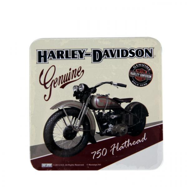 Harley Davidson Retro Teneke Bardak Altlığı
