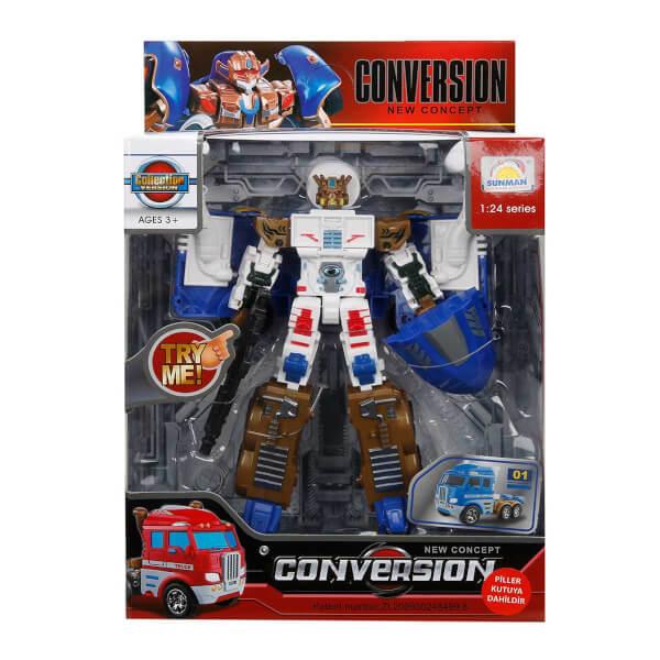 1:24 Sesli ve Işıklı Dönüşebilen Robot 22 cm.