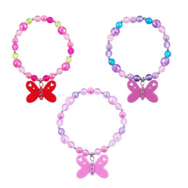 Pink Poppy Taşlı Kelebekli Bileklik
