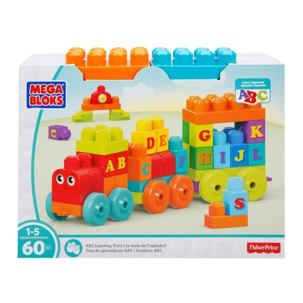 Mega Bloks DXH35 ABC Alphabet Train Construction & Building Toys