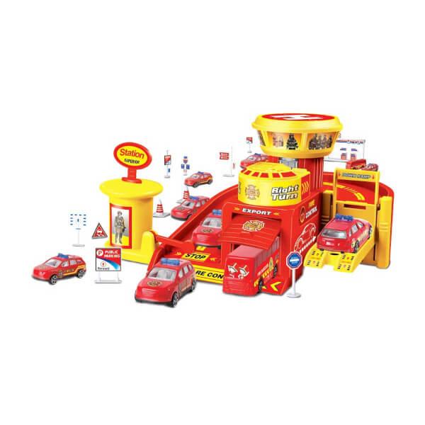 Maxx Wheels 3 Araçlı Garaj Seti