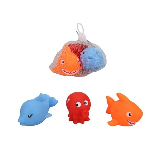 3'lü Banyo Oyuncakları Deniz Hayvanları