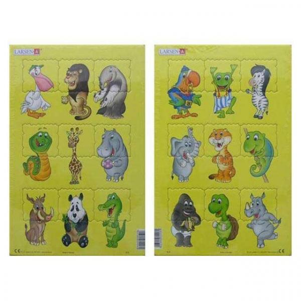 Midi Puzzle 9 Parça : Sevimli Hayvanlar
