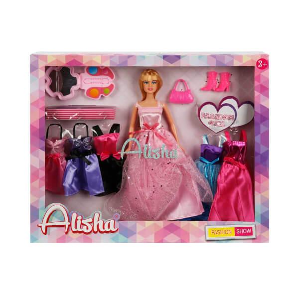 Alisha Prenses Elbiseli Bebek Oyun Seti