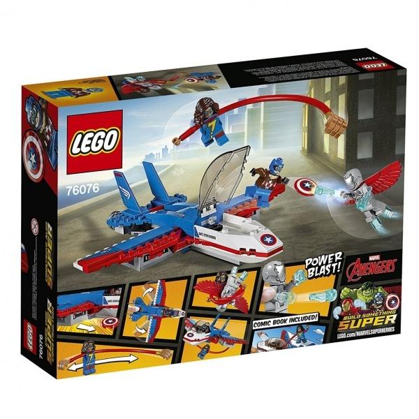 LEGO Marvel Super Heroes Captain America Jet Takibi 76076