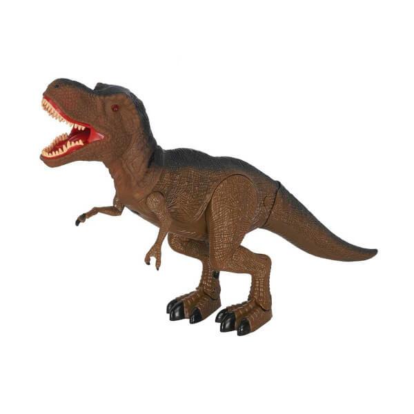 Tyrannosaurus T Rex Sesli Ve Isikli Dinozor Kahverengi Toyzz Shop