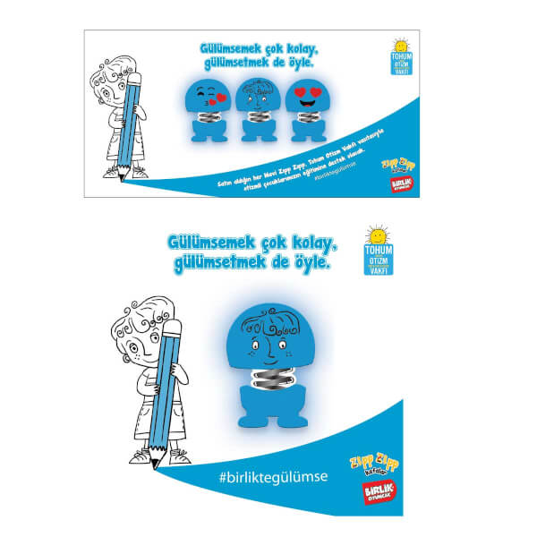 Zıp Zıp Mavi Emoji Kafalar
