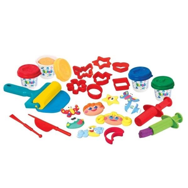 Çantalı 4 Renk Oyun Hamuru Seti