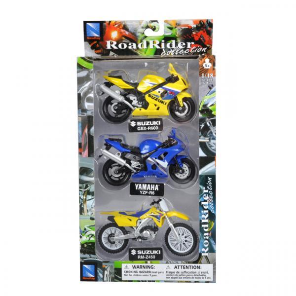 1:18 Road Rider 3'lü Model Motor Seti