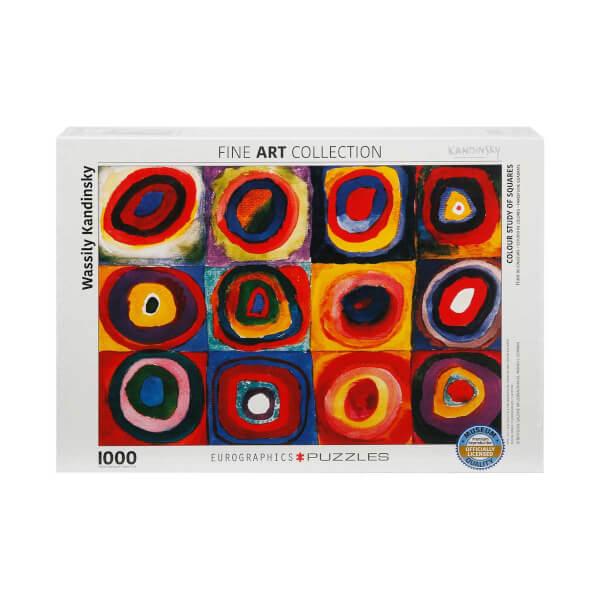 1000 Parça Puzzle : Color Study of Squares - Wassily Kandinsky