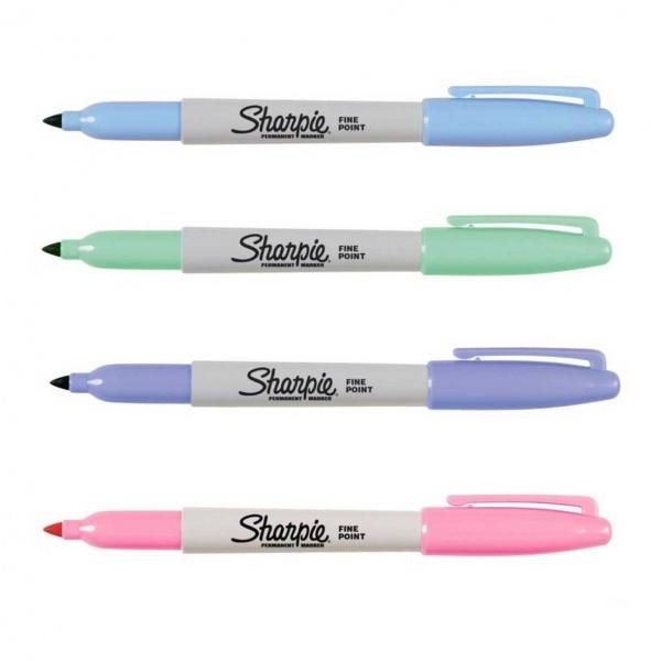 Sharpie Fine Permanent Markör Kalem 4'lü Pastel Renkler