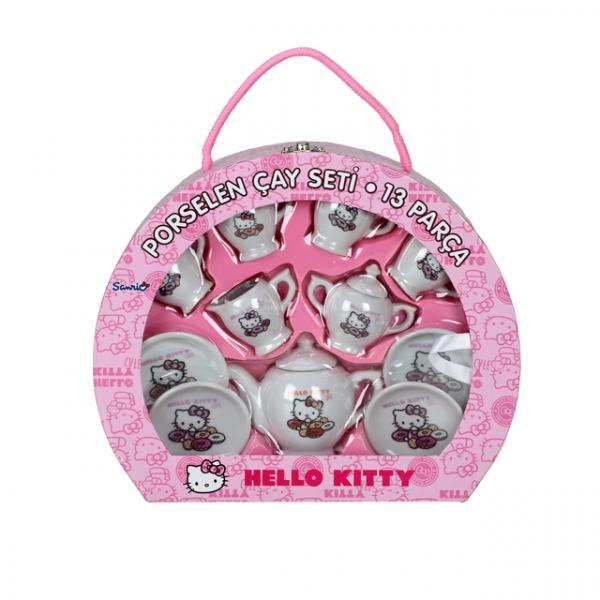 Hello Kitty Çantalı Porselen Çay Seti
