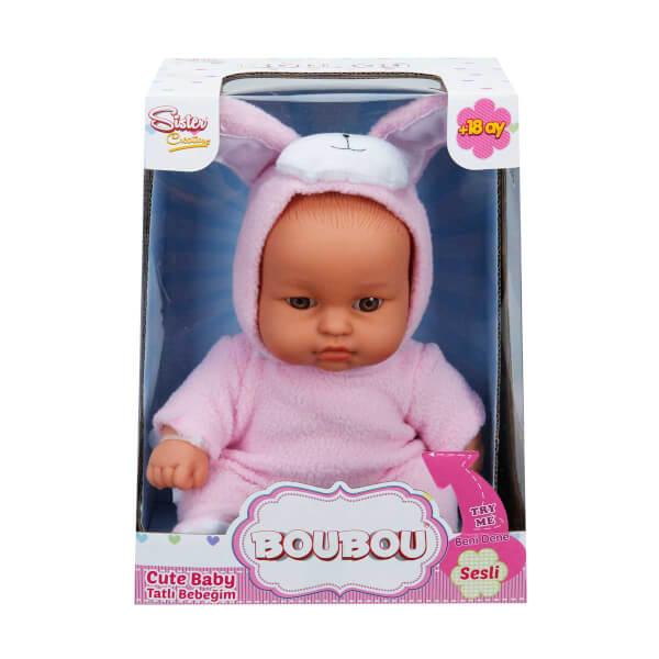 Boubou Hayvan Kostümlü Sesli Bebek 25 cm.