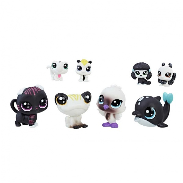 Littlest Pet Shop Siyah Beyaz Koleksiyonu Arkadaş Minişler C1847
