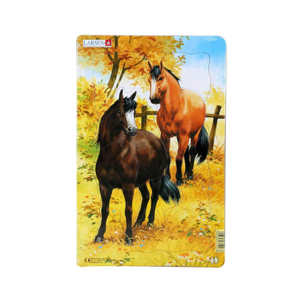 Midi Puzzle 10 Parça : Atlar
