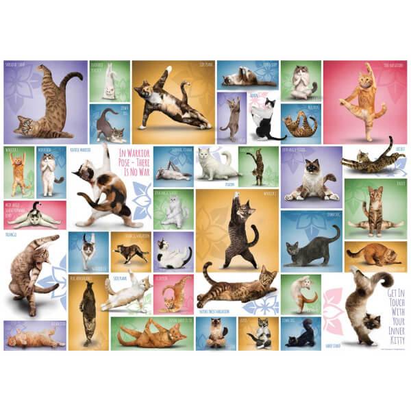 1000 Parça Puzzle : Yoga Cats