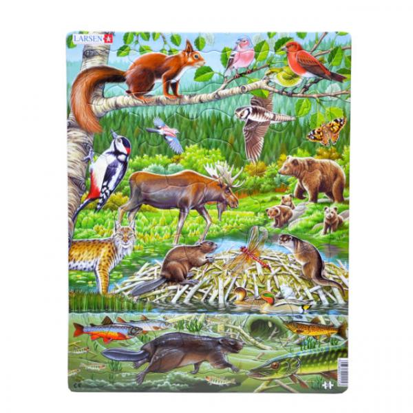 45 Parça Maxi Puzzle : Orman Hayvanları