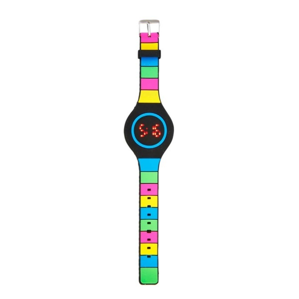 Silikon Renkli Yuvarlak Kol Saati