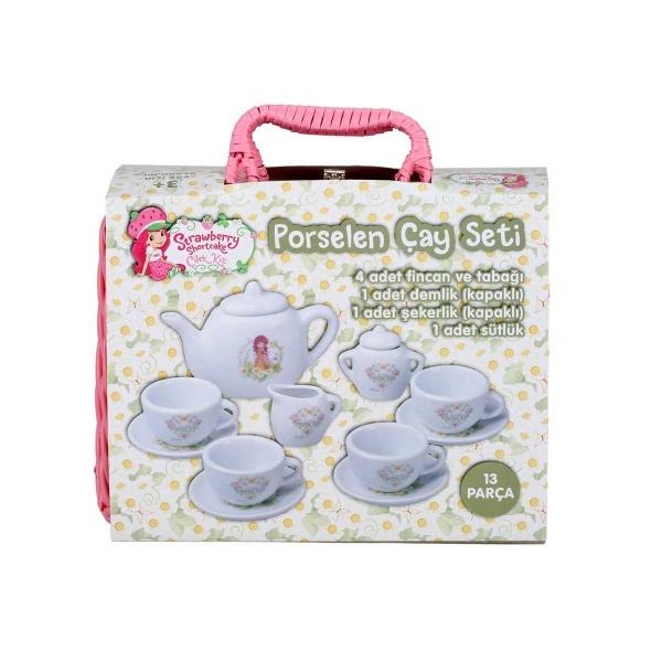 Çilek Kız Porselen Çay Seti