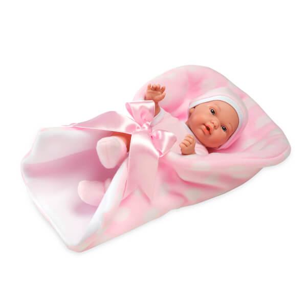 Elegance Yeni Doğan Pembe Elbiseli Et Bebek 26 cm.
