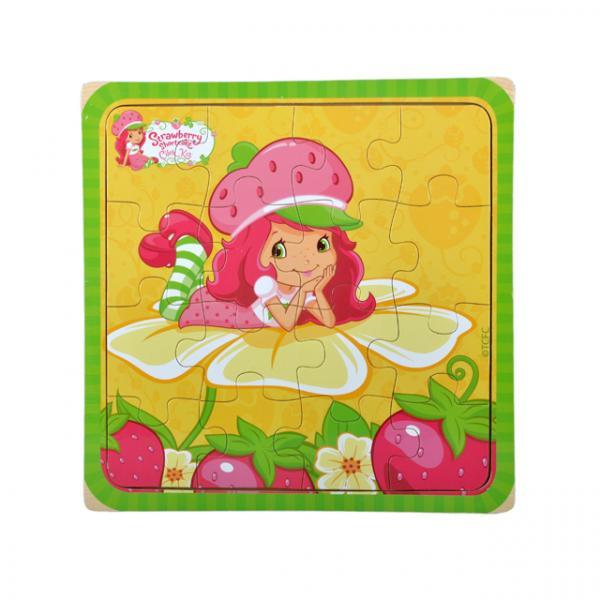 Çilek Kız  Ahşap Puzzle 16 Parça