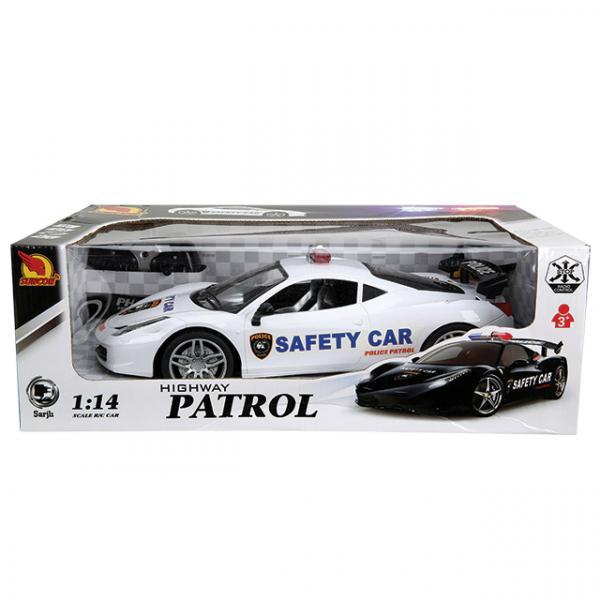 114 Uzaktan Kumandalı Polis Arabası Patrol Siyah Toyzz Shop