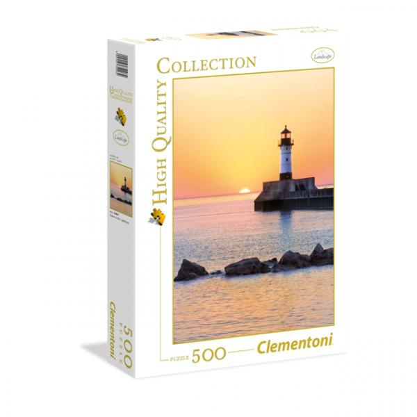 500 Parça Puzzle : HQ.Sunset To The Lighthouse