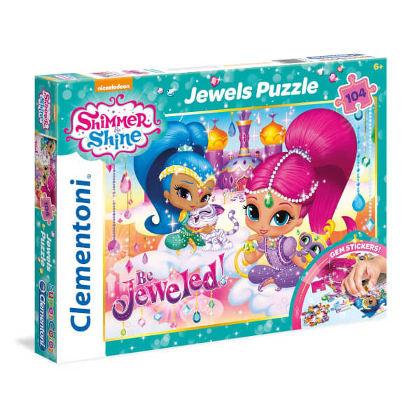 104 Parça Puzzle : Jewels Shimmer and Shine