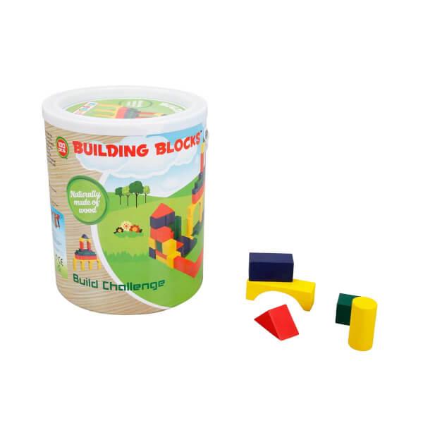 Woody Ahşap Bloklar 100 Parça