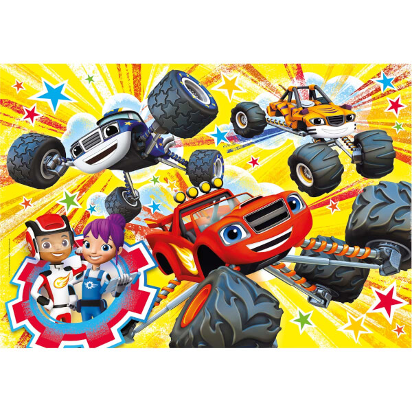 104 Parça Puzzle : Blaze and the Monster Machines