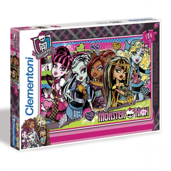 104 Parça Puzzle : Monster High Freakishly Fabulous