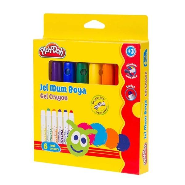 Play Doh Jel Crayon Mum Boya 6 Renk