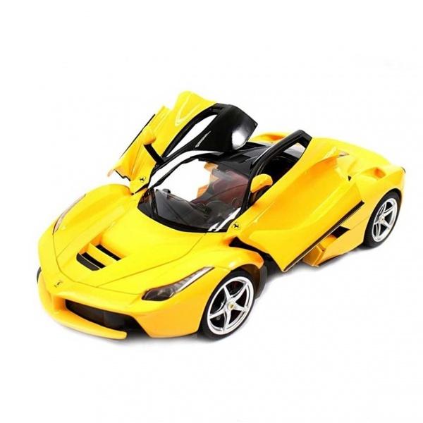 1 14 Ferrari Laferrari Uzaktan Kumandali Isikli Araba Sari