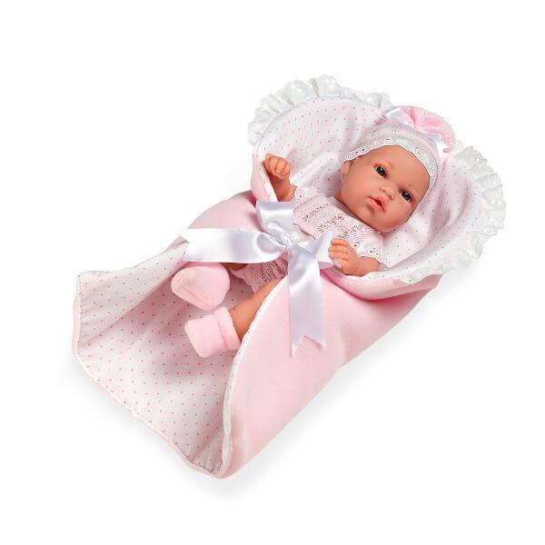 Elegance Yeni Doğan Pembe Elbiseli Et Bebek