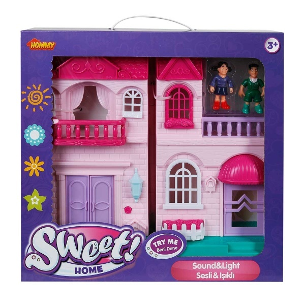 Sesli ve Işıklı 2 Katlı Küçük Ev Oyun Seti