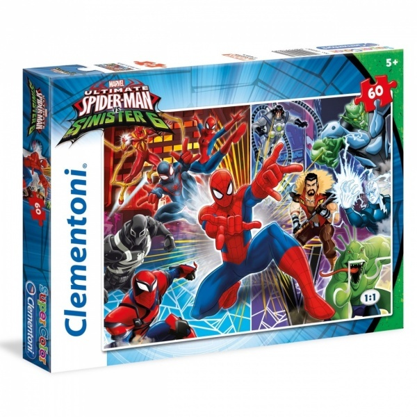 60 Parça Puzzle : Spiderman Sinister Six