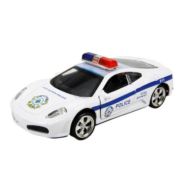Sesli ve Işıklı Polis Arabası 13 cm.
