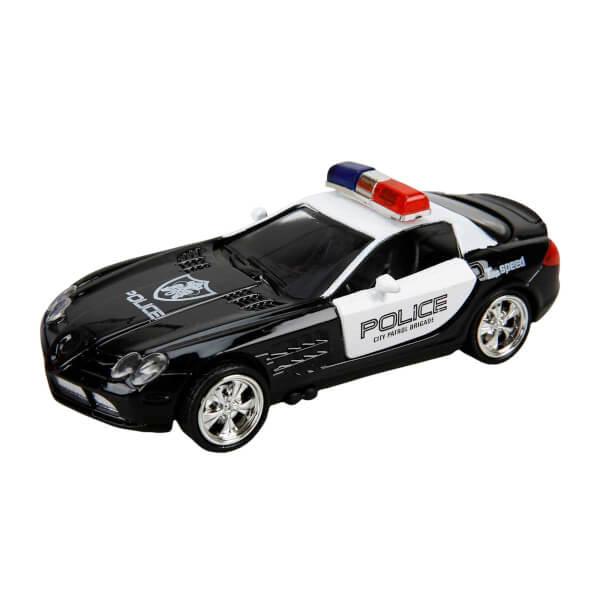 Sesli Ve Isikli Polis Arabasi 13 Cm Mavi Toyzz Shop