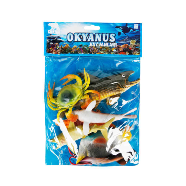 Okyanus Hayvanları Poşetli 7'li Hayvan Oyun Seti
