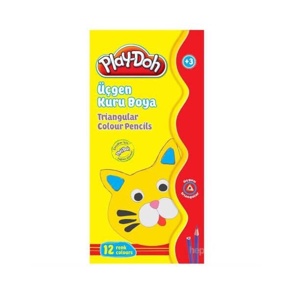 Play Doh Üçgen Kuru Boya 12 Renk
