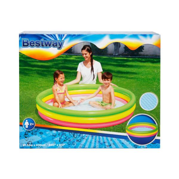 3 Halka Yuvarlak Desenli Havuz