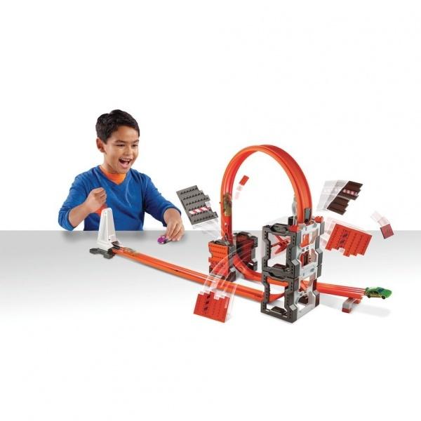 Hot Wheels Track Builder Bloklu Mega Yıkım Yarış Seti
