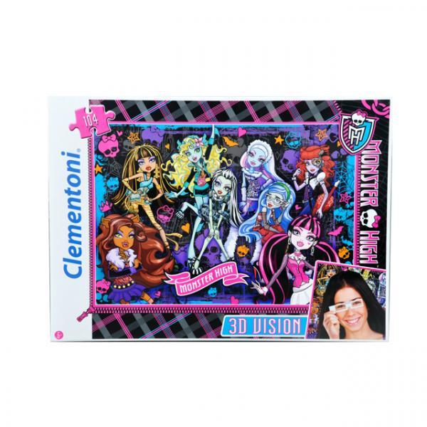 104 Parça 3D Puzzle : Monster High