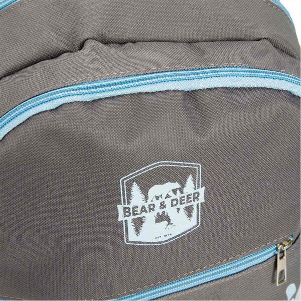 Bear & Deer 3'lü Okul Çantası Seti Gri CN0078
