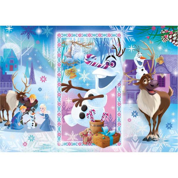 104 Parça Puzzle : Frozen Olaf's Adventure 1