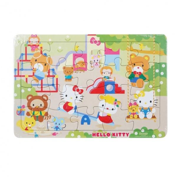 20 Parça Puzzle : Hello Kitty Parkta